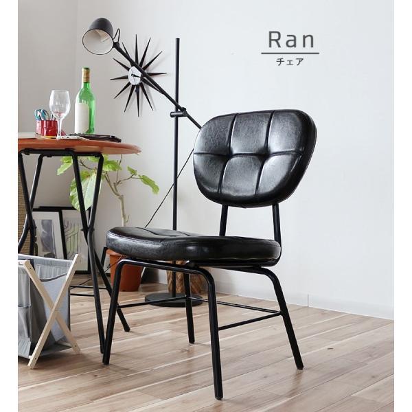 インダストリアルチェア 椅子 アイアンフレーム PUレザー ダイニングチェア 重量6kg 軽量 ブラウン ブラック レトロ ミッドセンチュリー 軽い GMK|crescent|14