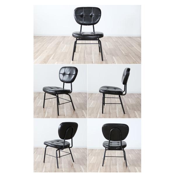 インダストリアルチェア 椅子 アイアンフレーム PUレザー ダイニングチェア 重量6kg 軽量 ブラウン ブラック レトロ ミッドセンチュリー 軽い GMK|crescent|04