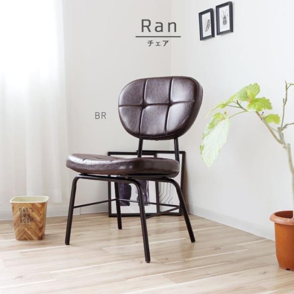 インダストリアルチェア 椅子 アイアンフレーム PUレザー ダイニングチェア 重量6kg 軽量 ブラウン ブラック レトロ ミッドセンチュリー 軽い GMK|crescent|05