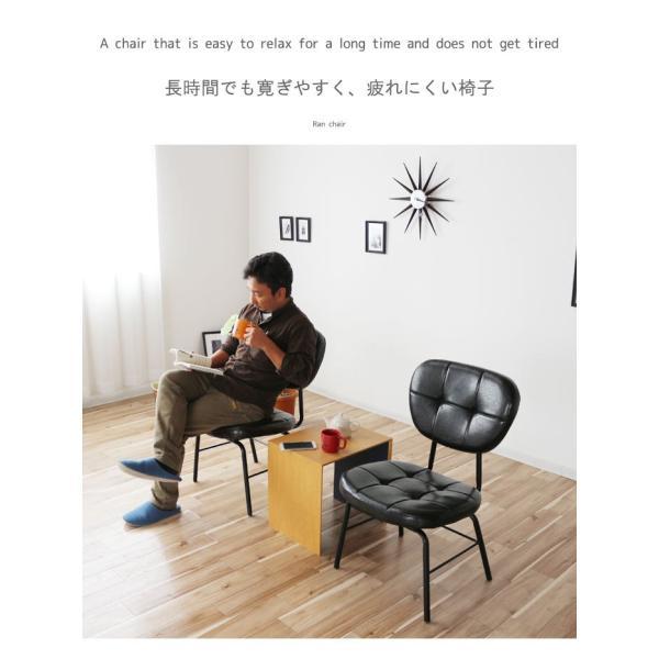 インダストリアルチェア 椅子 アイアンフレーム PUレザー ダイニングチェア 重量6kg 軽量 ブラウン ブラック レトロ ミッドセンチュリー 軽い GMK|crescent|06