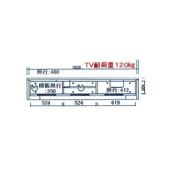 テレビ台 和モダン ルーバー 格子 テレビボード 幅180 3160TV SOK 開梱設置送料無料 m082-|crescent|02