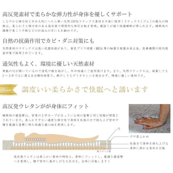 腰痛対策 マットレス シングル エア3Dサポート+高反発 敷き布団 シングル ベッドマット 折りたたみ 世界基準認証 あすつく murren-el7100s|crescent|03