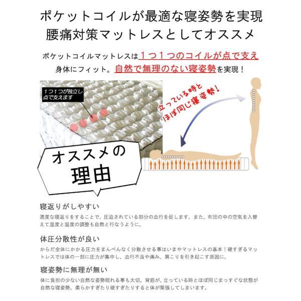マットレス セミダブル 極太ポケットコイル 11層 15cm 3D メッシュ メッシュ マットレス 三つ折り 3つ折り 腰痛対策マット 高反発入り murren-km-p2sd 3分割式|crescent|04
