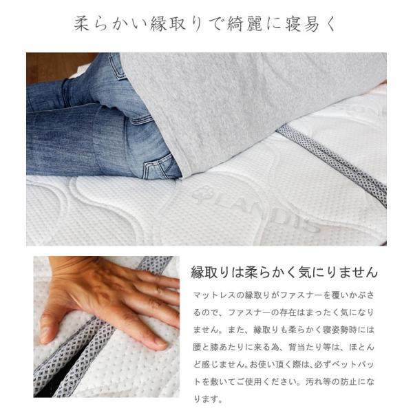 マットレス セミダブル 極太ポケットコイル 11層 15cm 3D メッシュ メッシュ マットレス 三つ折り 3つ折り 腰痛対策マット 高反発入り murren-km-p2sd 3分割式|crescent|09