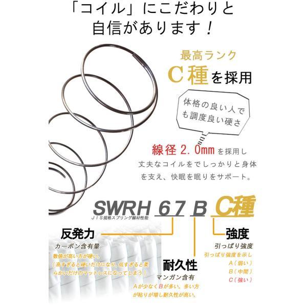 マットレス シングル 片面メッシュ 世界基準認証 シングル ポケットコイル 腰痛 対策 分割 折り畳み 三つ折り 3分割 あすつく マットレス 三つ折り crescent 05