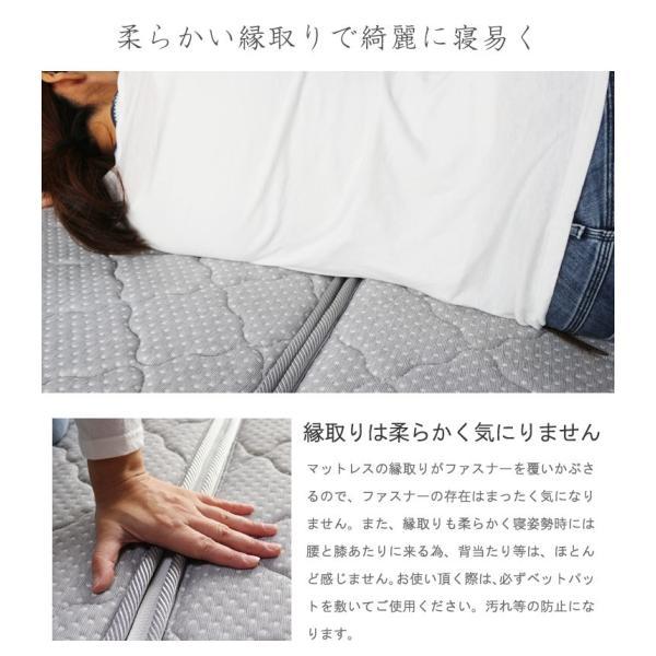 ベッドマットレス 三つ折り 高反発 セミダブル エアサポート ポケットコイル  エアーマットレス 折りたたみ 折り畳み 送料無料 あすつく YSS crescent 12