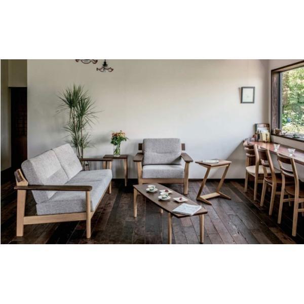 サイドテーブルのみ 幅45cm 天然木 ウォルナット オーク ナチュラル 北欧風 カフェ風 ナチュラル おしゃれ シンプル リビングテーブル 送料無料|crescent|05