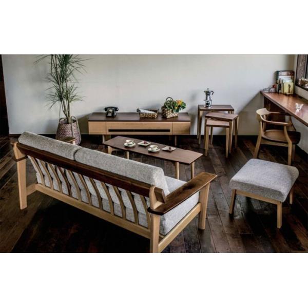 サイドテーブルのみ 幅45cm 天然木 ウォルナット オーク ナチュラル 北欧風 カフェ風 ナチュラル おしゃれ シンプル リビングテーブル 送料無料|crescent|06