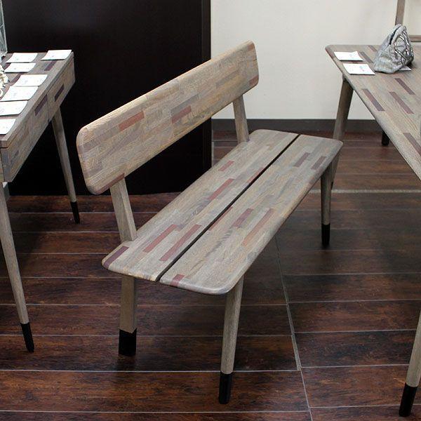 ベンチ 背もたれ ベンチチェア 椅子 いす イス 無垢材 北欧家具 送料無料 crescent