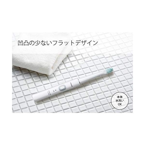 オムロン 電動歯ブラシ メディクリーン 音波式 ホワイト HT-B307-W|crescentstyl|03