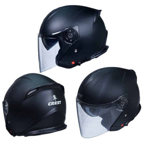 クレスト ワンタッチインナーバイザー付きジェットヘルメット HAYABUSA 隼|crest1|02