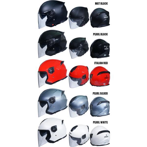 クレスト ワンタッチインナーバイザー付きジェットヘルメット HAYABUSA 隼|crest1|05