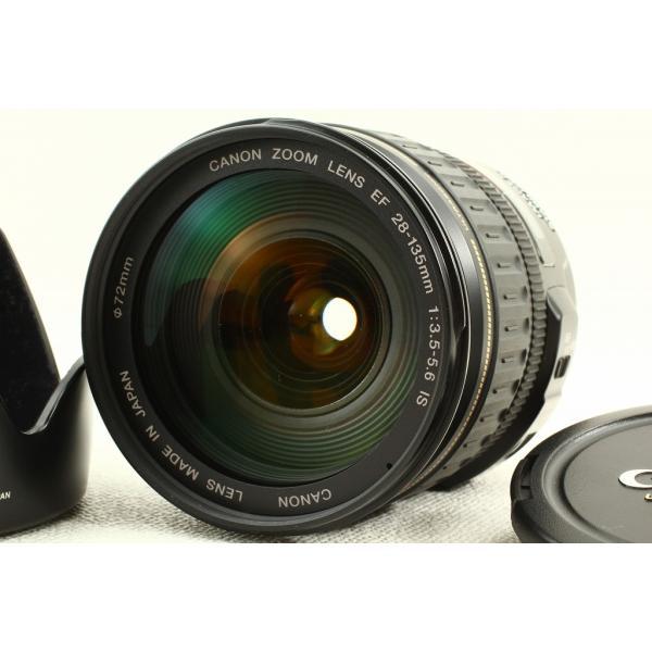 Canonキヤノン EF 28-135mm F3.5-5.6 IS USM◆フード 極上品ランク