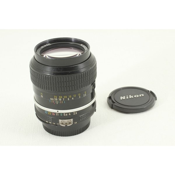 NIKONニコン New Nikkor 105mm F2.5◆単焦点,中望遠レンズ 美品ランク