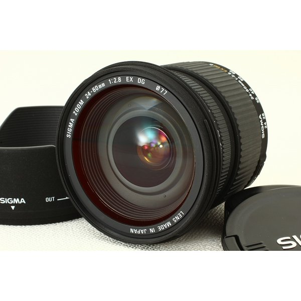 SIGMAシグマ AF 24-60mm F2.8 EX DG for Nikon ニコン フード 極上品ランク
