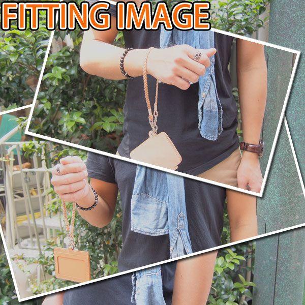 マルチストラップ 栃木レザー シルフィー 3mm巾 牛革 三つ編み 国産金具