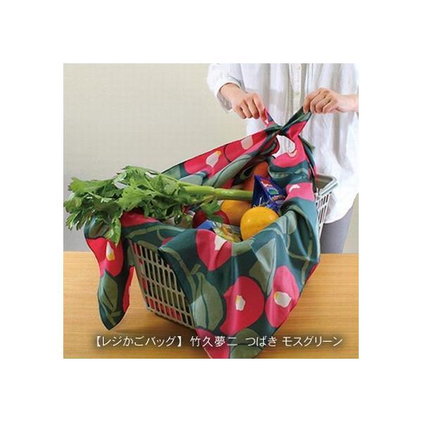 アクアドロップふろしき 竹久夢二 つばき(モスグリーン)撥水加工 100cm crococko 03