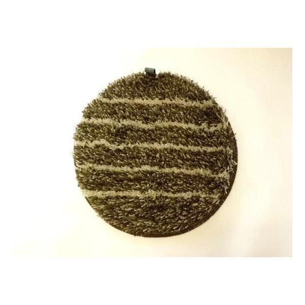 洗えるチェアパッド丸(ブラウン)|crococko