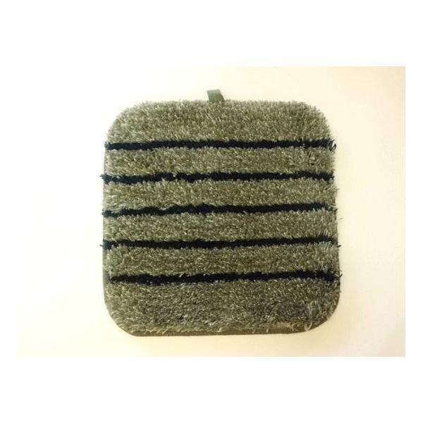 洗えるチェアパッド角(グレー) 座布団|crococko
