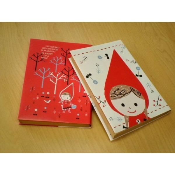 ShinziKatoh ペーパーブックカバー文庫サイズ(RedHood)|crococko|03