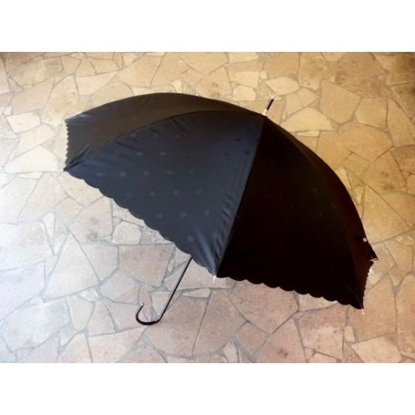 PUドットヒートカット日傘(ブラック)|crococko