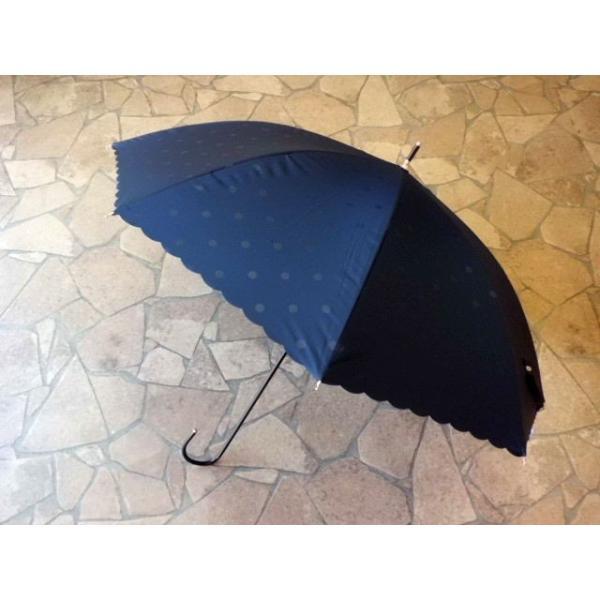 PUドットヒートカット日傘(ネイビー)|crococko