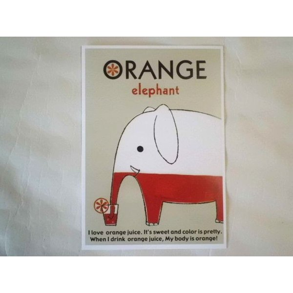 ShinziKatoh ポストカード(orange)|crococko