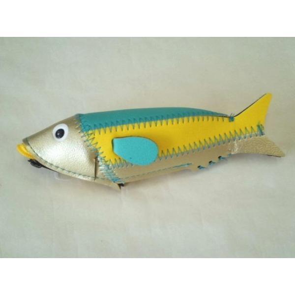 ミニフィッシュケース Mini Fish Case (Gold&Yellow)|crococko