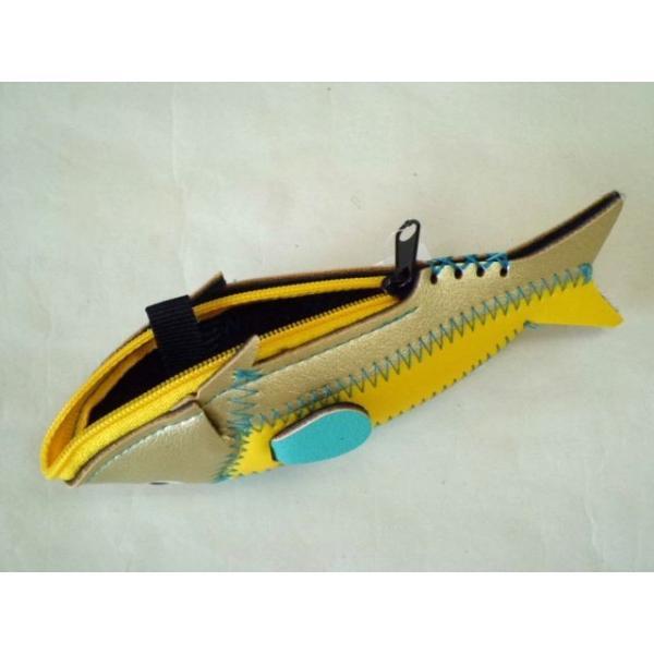 ミニフィッシュケース Mini Fish Case (Gold&Yellow)|crococko|02