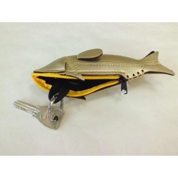 ミニフィッシュケース Mini Fish Case (Gold)|crococko|02