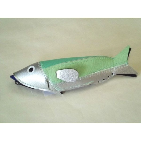 ミニフィッシュケース Mini Fish Case (Silver&Green)|crococko