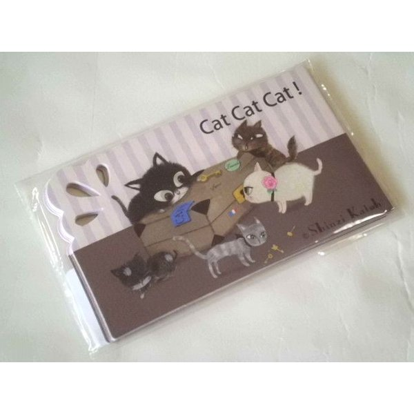ShinziKatoh ミニグリーティングカード(catcatcat)|crococko