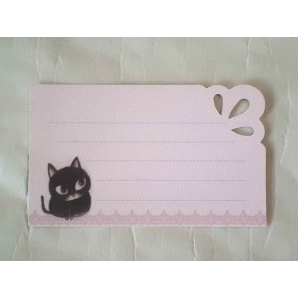 ShinziKatoh ミニグリーティングカード(catcatcat)|crococko|03