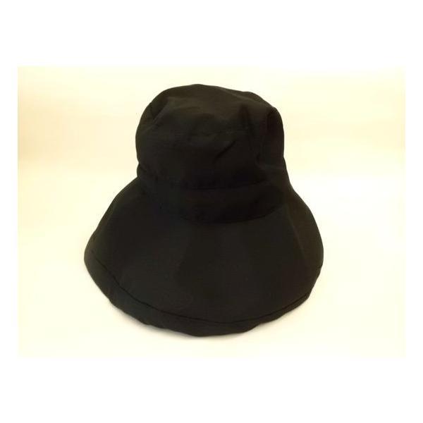 ツバ広女優帽(ブラック)|crococko|02