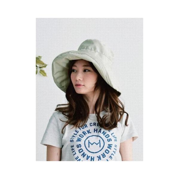 ツバ広女優帽(ベージュ)|crococko