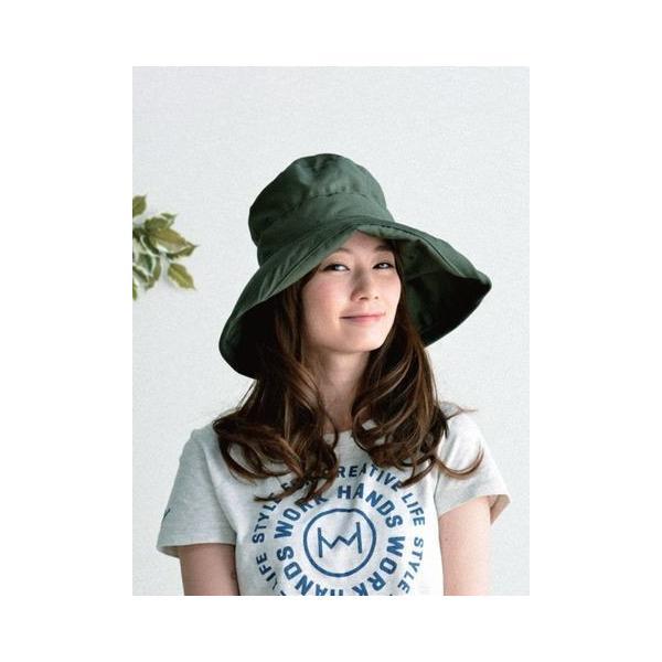 ツバ広女優帽(オリーブ)|crococko