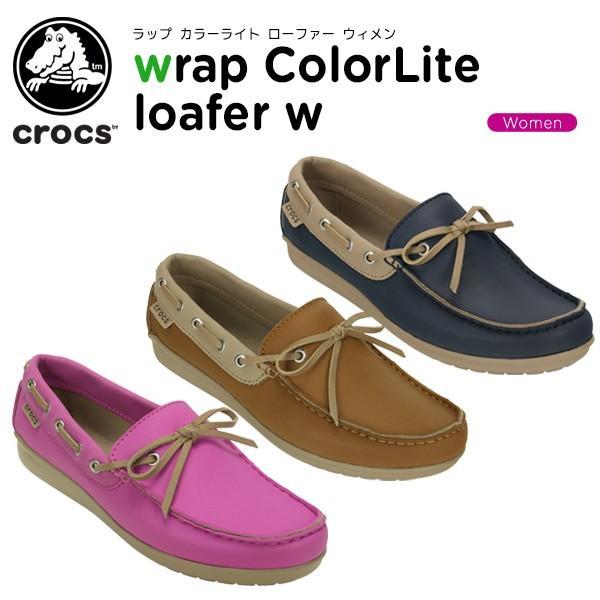 クロックス crocs ラップ カラーライト ローファー ウィメン  wrap ColorLite loafer w [C/A]