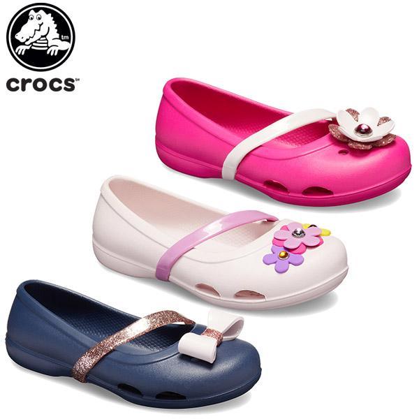 クロックス crocs クロックス リナ チャーム フラット キッズ(crocs lina charm flat kids ) キッズ サンダル 子供用[C/A]