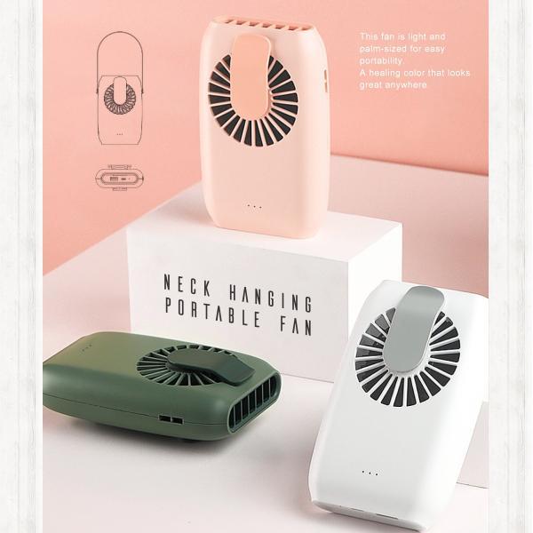 ハンディファン 首かけ 充電式 扇風機 2020 静音 首掛け usb 手持ち 卓上 充電式首かけ扇風機|cross-online|10