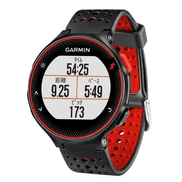 ガーミン GARMIN 正規品 ForeAthlete235J Black Red スマートウォッチ 腕時計 フォーアスリート235J ランニングウォッチ ブラックレッド 010-03717-6H|cross9
