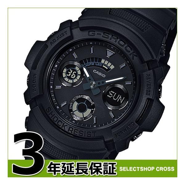 【3年保証】 CASIO カシオ G-SHOCK Gショック ベーシック クオーツ メンズ 腕時計 オールブラック 黒 AW-591BB-1ADR 海外モデル AW-591BB-1A|cross9