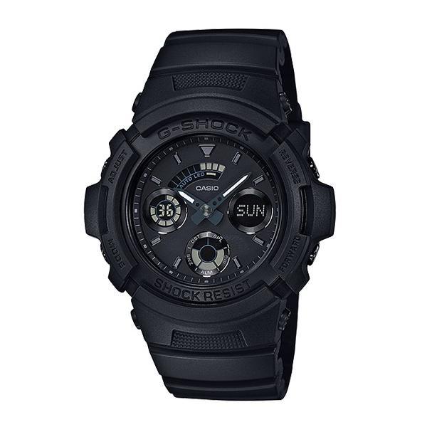 【3年保証】 CASIO カシオ G-SHOCK Gショック ベーシック クオーツ メンズ 腕時計 オールブラック 黒 AW-591BB-1ADR 海外モデル AW-591BB-1A|cross9|02