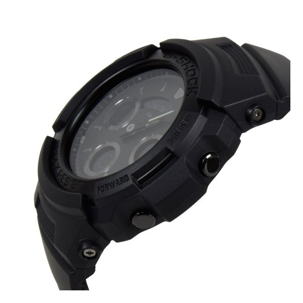 【3年保証】 CASIO カシオ G-SHOCK Gショック ベーシック クオーツ メンズ 腕時計 オールブラック 黒 AW-591BB-1ADR 海外モデル AW-591BB-1A|cross9|03