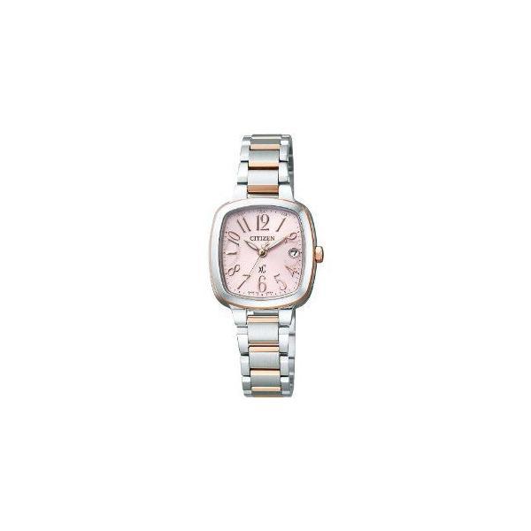 シチズン CITIZEN クロスシー XC エコ・ドライブ電波 時計 レディス 腕時計 es8014-54w シルバー ピンク おしゃれ ポイント消化