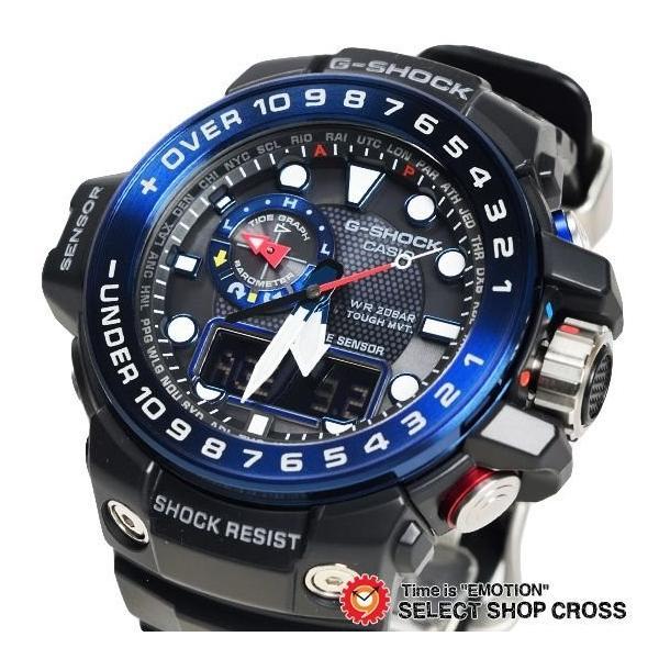 【3年保証】 カシオ G-SHOCK Gショック GULFMASTER ガルフマスター メンズ 電波 ソーラー 腕時計 アナデジ GWN-1000B-1BDR ブラック 海外モデル GWN-1000B-1B cross9