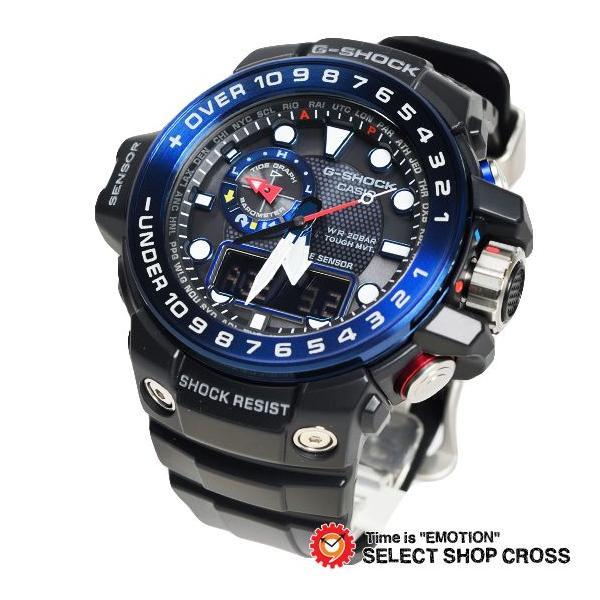 【3年保証】 カシオ G-SHOCK Gショック GULFMASTER ガルフマスター メンズ 電波 ソーラー 腕時計 アナデジ GWN-1000B-1BDR ブラック 海外モデル GWN-1000B-1B cross9 02