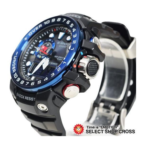【3年保証】 カシオ G-SHOCK Gショック GULFMASTER ガルフマスター メンズ 電波 ソーラー 腕時計 アナデジ GWN-1000B-1BDR ブラック 海外モデル GWN-1000B-1B cross9 04