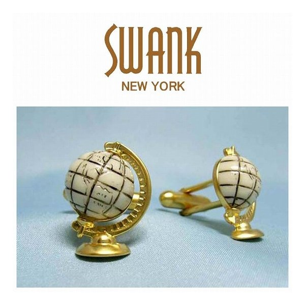 スワンク SWANK 地球儀のカフス C0012 ポイント消化
