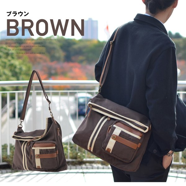メンズ ショルダーバッグ 2Wayバッグ メッセンジャーバッグ バッグ 口折れ 斜めがけ バック DEVICE かばん 鞄 帆布バッグ A4 ブランド 斜め掛け|crosscharm|05