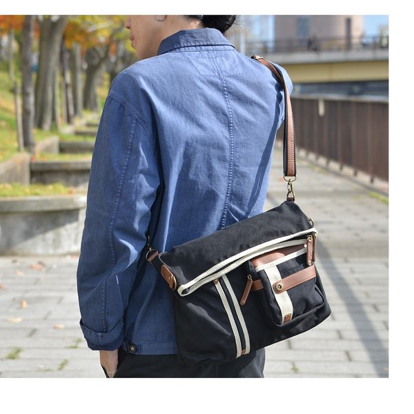 メンズ ショルダーバッグ 2Wayバッグ メッセンジャーバッグ バッグ 口折れ 斜めがけ バック DEVICE かばん 鞄 帆布バッグ A4 ブランド 斜め掛け|crosscharm|10